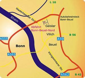 Anfahrt zur LDC Informationsdienste GmbH